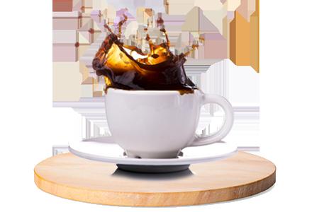Filiżanka kawy z rozbryzgiem
