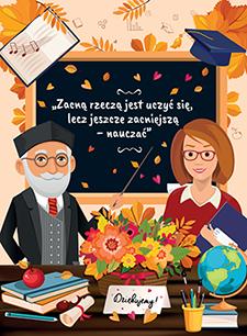 Etykieta na dzień nauczyciela - front